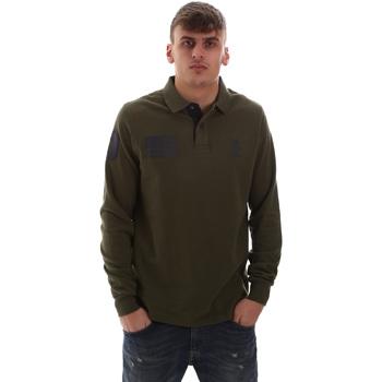 Textil Muži Polo s dlouhými rukávy U.S Polo Assn. 52416 47773 Zelený