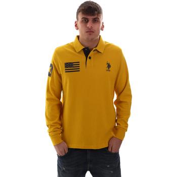 Textil Muži Polo s dlouhými rukávy U.S Polo Assn. 52416 47773 Žlutá