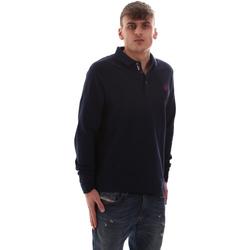 Textil Muži Polo s dlouhými rukávy U.S Polo Assn. 52415 47773 Modrý