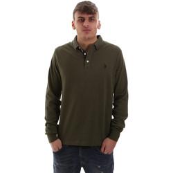 Textil Muži Polo s dlouhými rukávy U.S Polo Assn. 52415 47773 Zelený