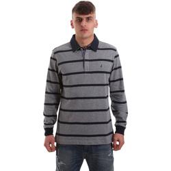 Textil Muži Polo s dlouhými rukávy Navigare NV30027 Šedá