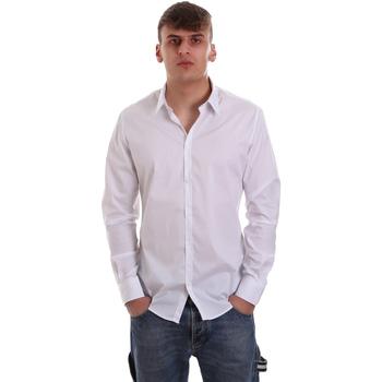 Textil Muži Košile s dlouhymi rukávy Gaudi 921FU45014 Bílý