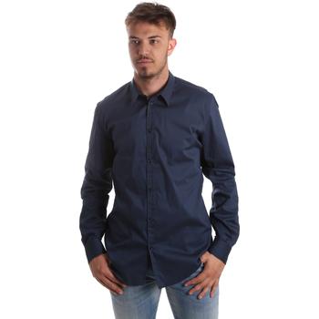 Textil Muži Košile s dlouhymi rukávy Gaudi 921FU45014 Modrý