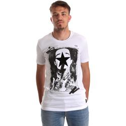 Textil Muži Trička s krátkým rukávem Gaudi 921FU64002 Bílý