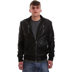 Textil Muži Kožené bundy / imitace kůže Gaudi 921BU38001 Černá
