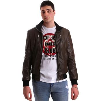 Textil Muži Kožené bundy / imitace kůže Gaudi 921BU38001 Hnědý