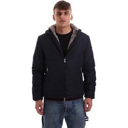 Textil Muži Teplákové bundy Gaudi 921BU35006 Modrý