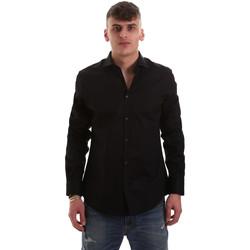 Textil Muži Košile s dlouhymi rukávy Gaudi 921BU45001 Černá