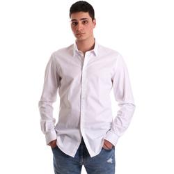 Textil Muži Košile s dlouhymi rukávy Gaudi 921BU45001 Bílý