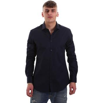 Textil Muži Košile s dlouhymi rukávy Gaudi 921BU45001 Modrý