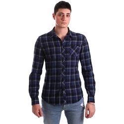 Textil Muži Košile s dlouhymi rukávy Gaudi 921BU45006 Modrý