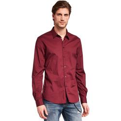 Textil Muži Košile s dlouhymi rukávy Gaudi 921BU45008 Červené