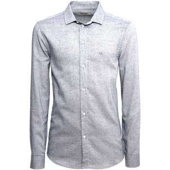 Textil Muži Košile s dlouhymi rukávy NeroGiardini A973180U Modrý
