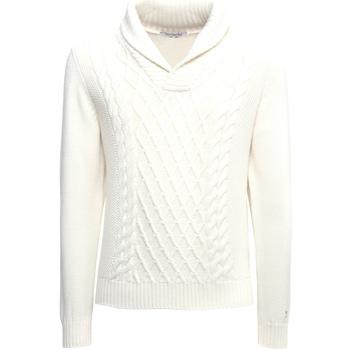 Textil Muži Svetry Nero Giardini A974530U Bílý