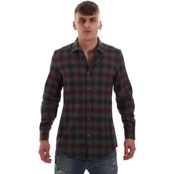 Textil Muži Košile s dlouhymi rukávy Antony Morato MMSL00548 FA410091 Šedá