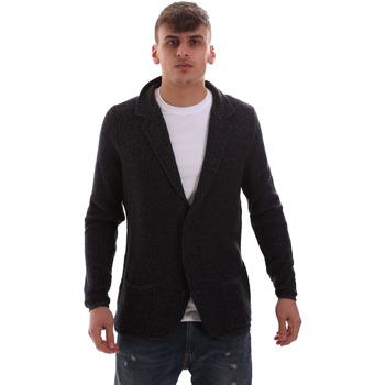 Textil Muži Svetry / Svetry se zapínáním Antony Morato MMSW00949 YA200061 Modrý