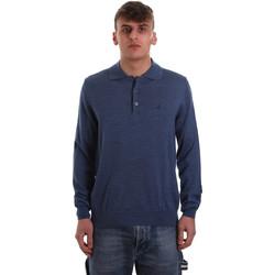 Textil Muži Polo s dlouhými rukávy Navigare NV11006 40 Modrý