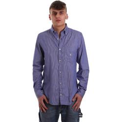 Textil Muži Košile s dlouhymi rukávy Navigare NV91068 BD Modrý