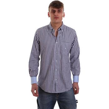 Textil Muži Košile s dlouhymi rukávy Navigare NV91072 BD Modrý