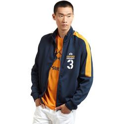 Textil Muži Teplákové bundy La Martina OMF606 FP077 Modrý