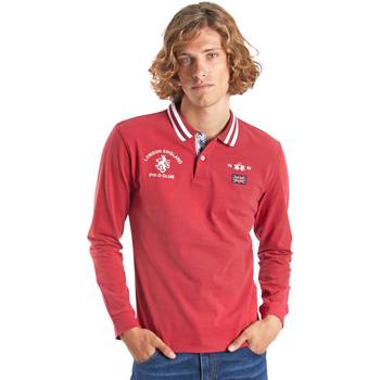 Textil Muži Polo s dlouhými rukávy La Martina OMP325 JS005 Červené