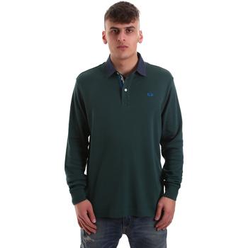 Textil Muži Polo s dlouhými rukávy La Martina OMP007 JS169 Zelený