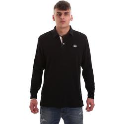 Textil Muži Polo s dlouhými rukávy La Martina OMP007 JS169 Černá