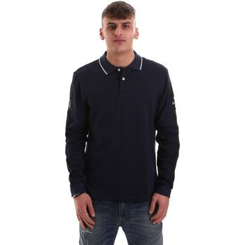 Textil Muži Polo s dlouhými rukávy La Martina OMPM36 JS169 Modrý