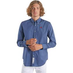 Textil Muži Košile s dlouhymi rukávy La Martina OMC015 PP461 Modrý