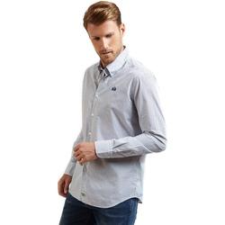 Textil Muži Košile s dlouhymi rukávy La Martina OMC016 PP462 Modrý