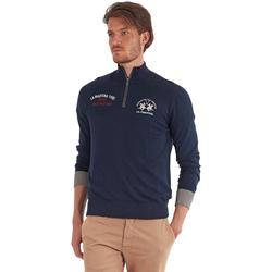 Textil Muži Svetry La Martina OMS317 YW025 Modrý