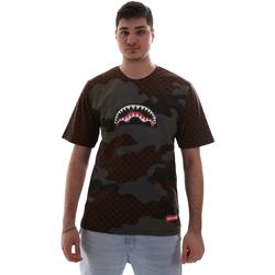 Textil Muži Trička s krátkým rukávem Sprayground SP018SBRO Hnědý