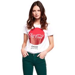 Textil Ženy Trička s krátkým rukávem Gaudi 921BD64047 Bílý