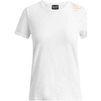 Textil Ženy Trička s krátkým rukávem Ea7 Emporio Armani 6GTT07 TJ12Z Bílý