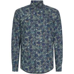 Textil Muži Košile s dlouhymi rukávy Calvin Klein Jeans K10K105411 Modrý