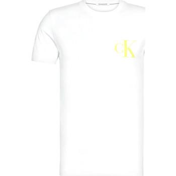 Textil Muži Trička s krátkým rukávem Calvin Klein Jeans J30J315175 Bílý