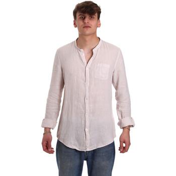 Textil Muži Košile s dlouhymi rukávy Gaudi 011BU45001 Béžový