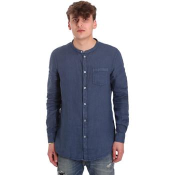 Textil Muži Košile s dlouhymi rukávy Gaudi 011BU45001 Modrý