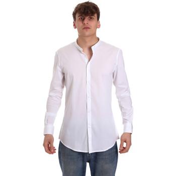 Textil Muži Košile s dlouhymi rukávy Gaudi 011BU45013 Bílý
