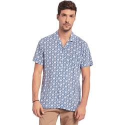 Textil Muži Košile s krátkými rukávy Gaudi 011BU45046 Modrý