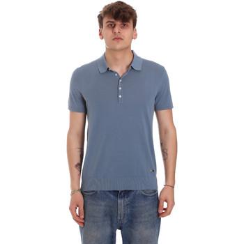 Textil Muži Polo s krátkými rukávy Gaudi 011BU53011 Modrý