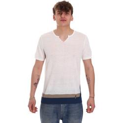 Textil Muži Trička s krátkým rukávem Gaudi 011BU53021 Béžový
