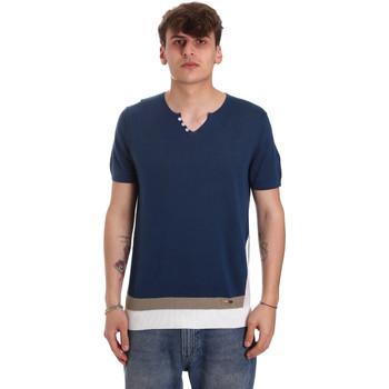 Textil Muži Trička s krátkým rukávem Gaudi 011BU53021 Modrý