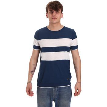 Textil Muži Trička s krátkým rukávem Gaudi 011BU53023 Modrý