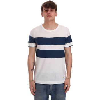 Textil Muži Trička s krátkým rukávem Gaudi 011BU53023 Béžový