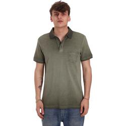 Textil Muži Polo s krátkými rukávy Gaudi 011BU64017 Zelený