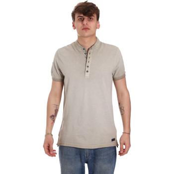 Textil Muži Polo s krátkými rukávy Gaudi 011BU64018 Béžový