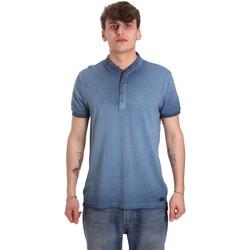 Textil Muži Polo s krátkými rukávy Gaudi 011BU64018 Modrý