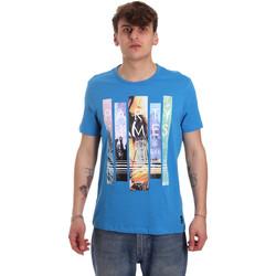 Textil Muži Trička s krátkým rukávem Gaudi 011BU64028 Modrý
