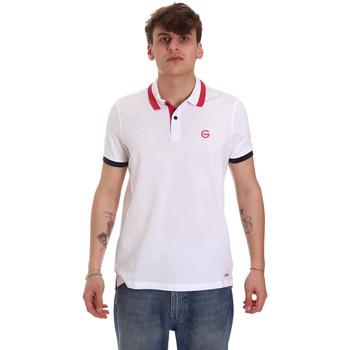 Textil Muži Polo s krátkými rukávy Gaudi 011BU64043 Bílý